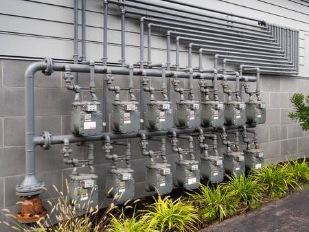 gas meters outside for gas company in Jordan progas